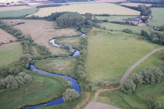Duxford Old River aerial view
