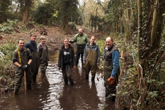 Volunteers in River Misbourne