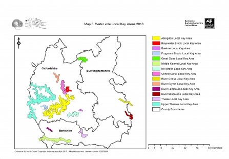 Water vole key areas