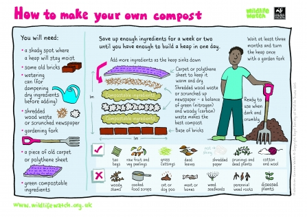 make your own compost wildlife watch illustrated instructions