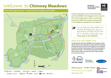 Map of Chimney Meadows Nature Reserve