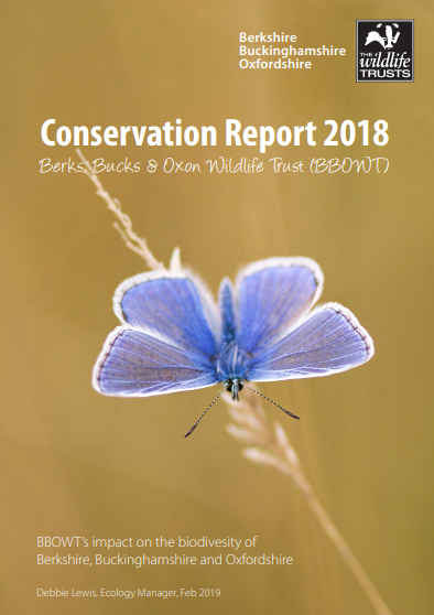 Cover of the 2018 conservation report