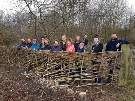 Volunteers at Boundary Brook