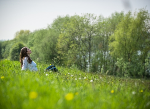 Picture of girl in field