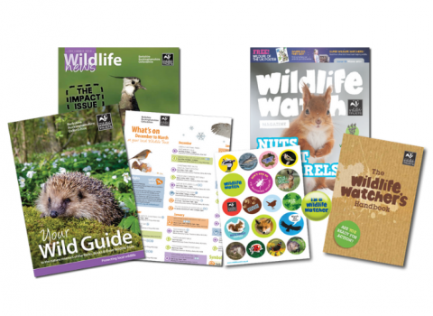 Photo of wildlife watch membership pack